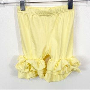 NEW Boutique Girls Yellow Pull On Icing Shorts